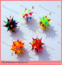 spike silicone ball tongue ring body piercing jewelry fashion design wholesale