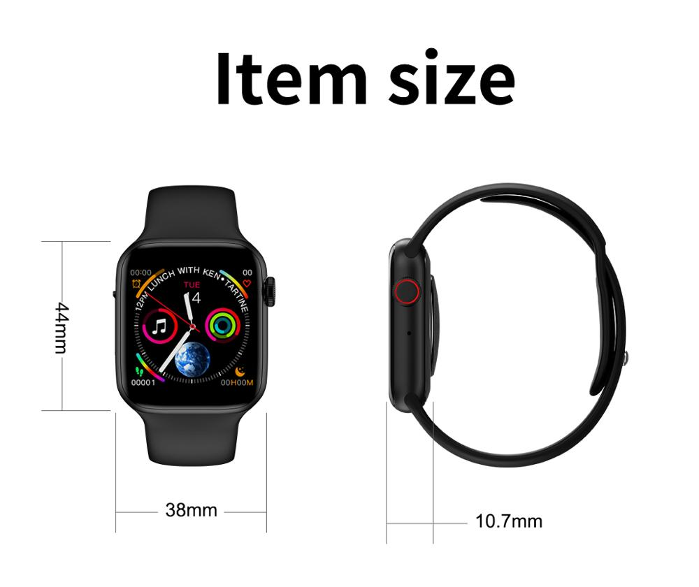 2019 2.5 D Fox full capacitive touch screen bluetooth sport smart watch with smartwatch heart rate monitor smart watch band W34
