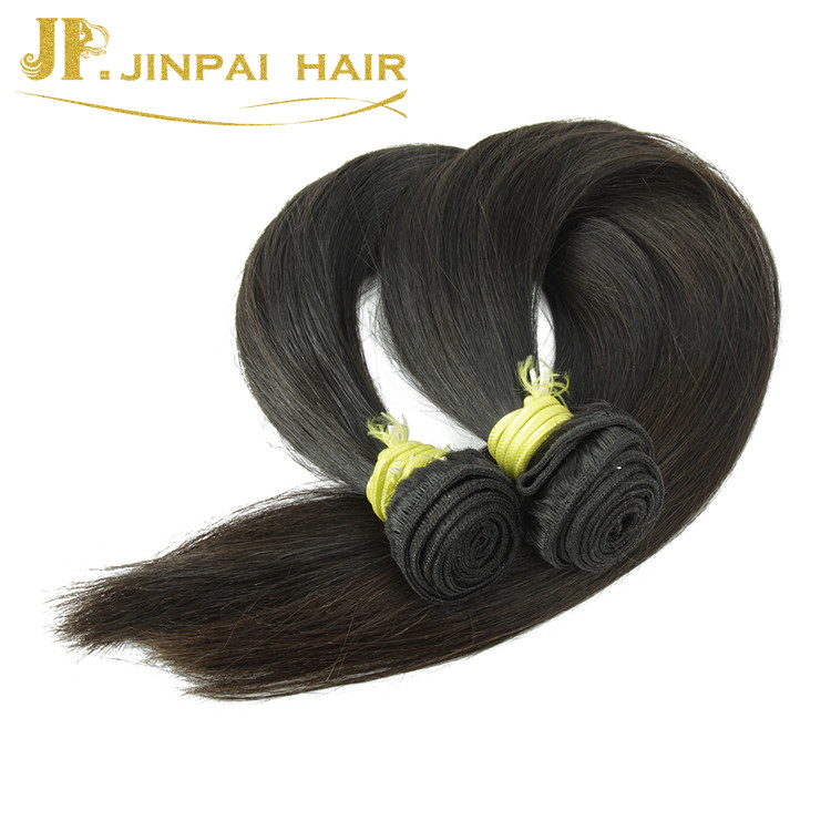 Jp Wholesale Cheap Natural Black Color Pretty Hair Weave Straight