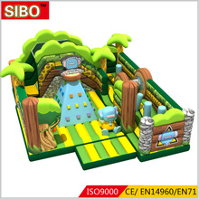 Giant inflatable bounce house bed air filled inflatable slide with bungee trampoline
