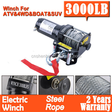 DC 12V 4x4 winch Electric Winch 3000LBS Steel Cable Wireless Remote