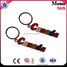 Cheap quality tourist souvenir 3d canada shape keychain with color filled