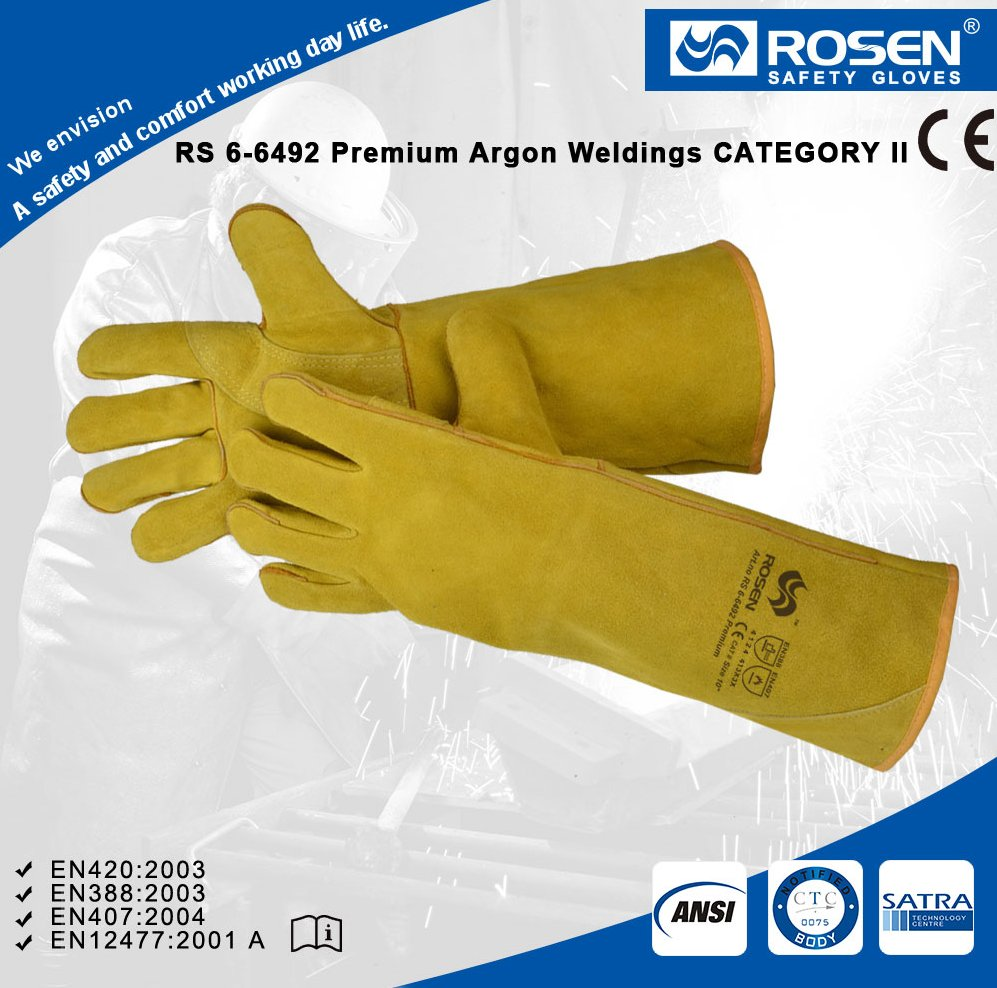 RS SAFETY Welding heat and cut resistance Leather working glove