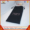 Black Plain Style Printing Logo Linen Christmas Liquor Bag