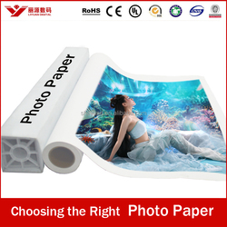 rc waterproof high glossy photo paper, thin glossy inkjet paper, inkjet photo paper