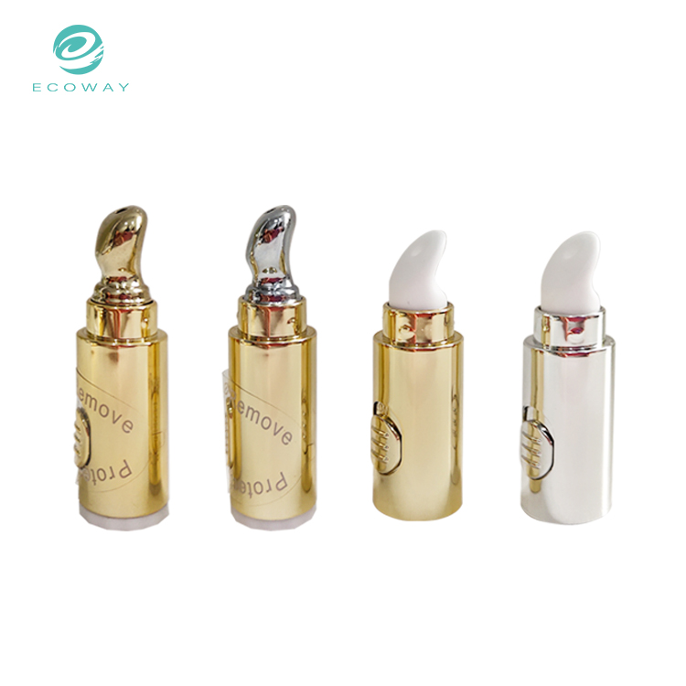Custom Vibrator Massage Applicator Metal Cap Eye Cream Tube Cosmetic Packaging