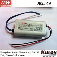 Mean well 12w 24v Constant Voltage Outdoor Waterproof Switching Power Supply/Led DriverAPV-12-24/led driver 5w