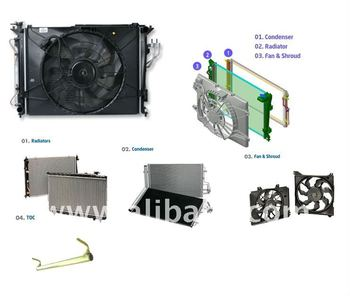 Radiator Vehicle Cooling System for Hyundai, Kia, Daewoo, Ssangyoong, Samsung and others