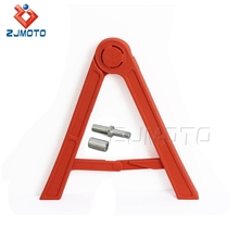 Zjmoto Universal Orange Plastic High Resistanst Folding Structure Offers A Strong And Stable Lateral Support Side Bracket