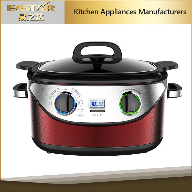 Electric cooker 8 in one multi functional cooker CE approval 1350W