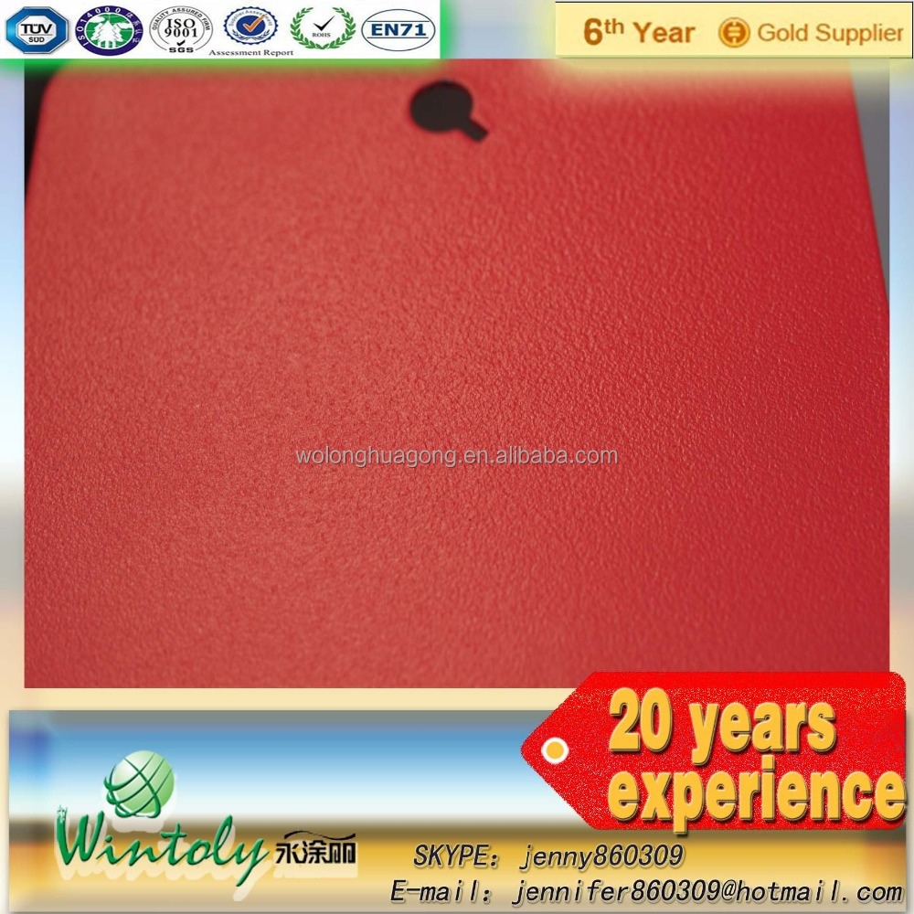Red texture top quality powder coating spray paint