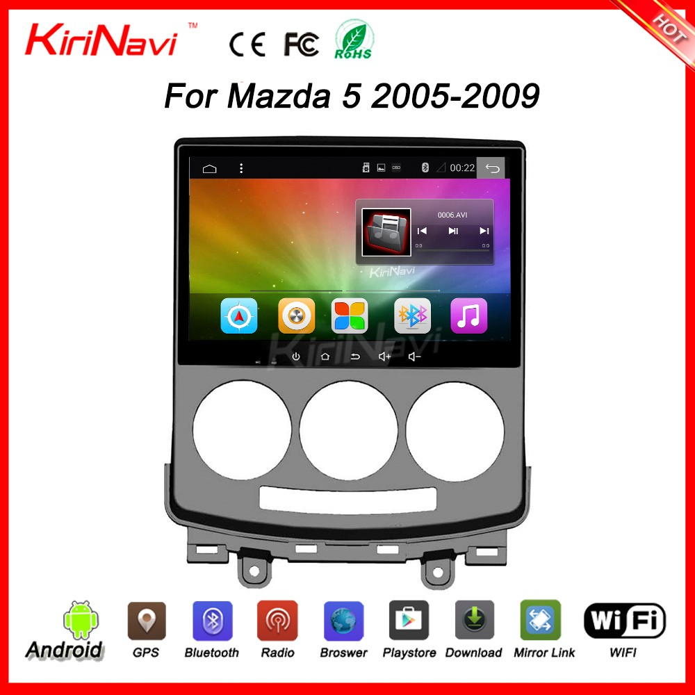 "Kirinavi oem WC-MZ9059 9"" andriod 6.0 navigation android car dvd player for mazda 5 2005 - 2009 SWC OBD2"