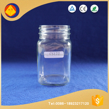 230ml lug cap straight sided square honey glass jar