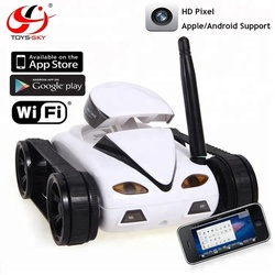 Wholesale toys Real time transmission wifi iphone control spy tank programmable wireless robot remote control car with camera