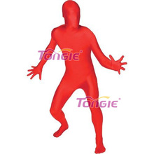 2016 Fahioned The New Design Red Zentai Sexy Spandex Catsuit
