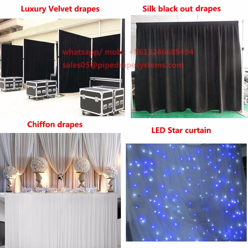Manufacturer pipe and drape wedding tent kits wall backdrop wedding tent wall back drop stage curtain