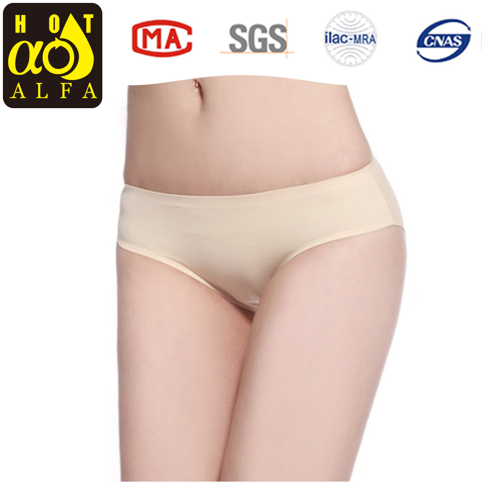2016 Women Panties Silk Seamless High Wiasted Panty Sexy Lingerie Slim Underwear