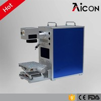 Aicon Laser 10w 20w 30w 50w mini fiber laser marking machine for metal widget