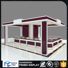 Simple mdf tradeshow display booth for garment clothes showroom design