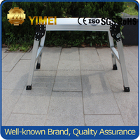 50CM height adjustable Aluminum telescopic working platform YM201with CE EN131 certification