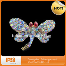 channel jewelry AB rhinestone Crystal Dragonfly Silver Tone Brooch