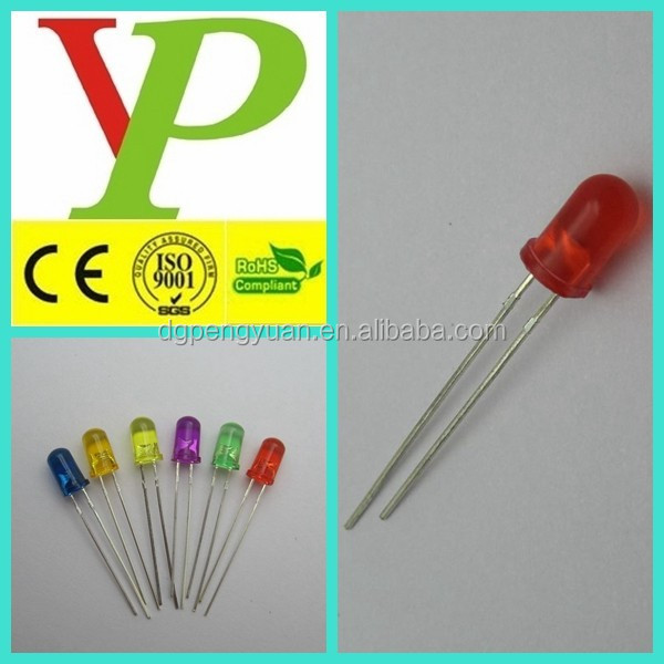 CE ROHS bi-color/rgb/red/green/blue/white/yellow high intensity 5mm round light led diode
