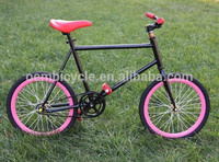 Fashion colorful fixed gear bike 20 inch for kids bicycle