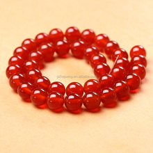 8mm round dyed red agate beads loose beads strings semi precious stones