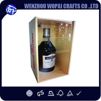 pine wooden 2 bottlew wooden wine boxes wholesale