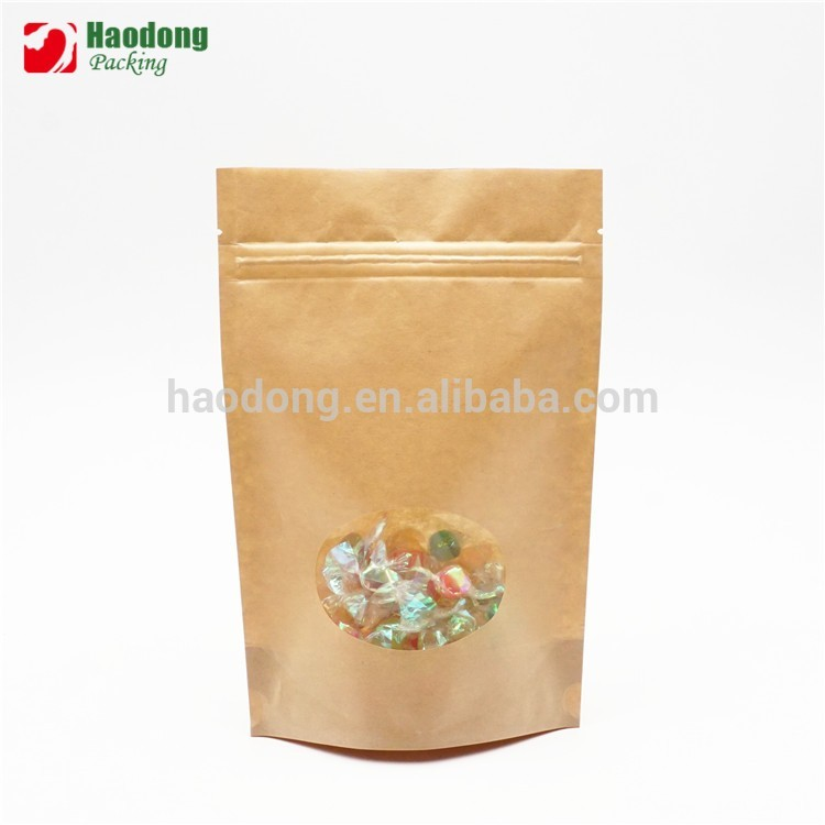 Food Grade Dry Banana Stand Up Laminated Wholesale Kraft Paper Bag