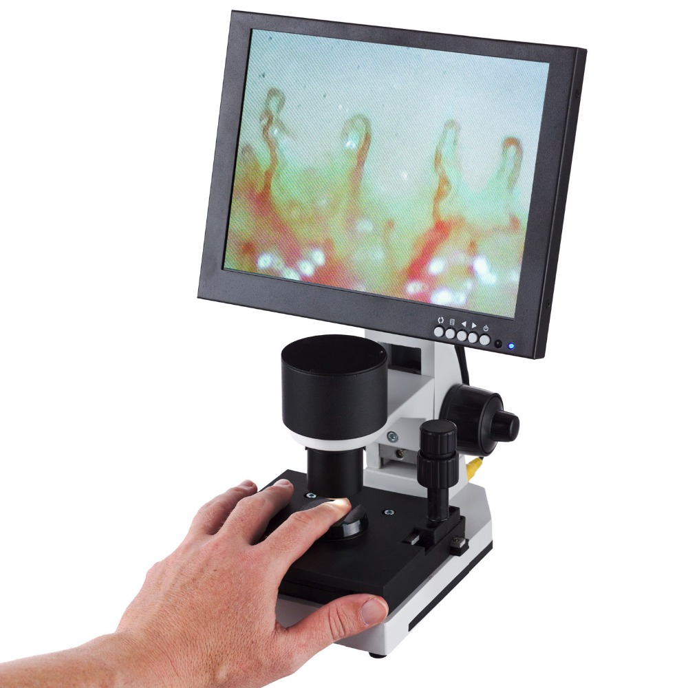"AmScope supplies Digital Capillary Microscope with 10"" LCD Monitor"