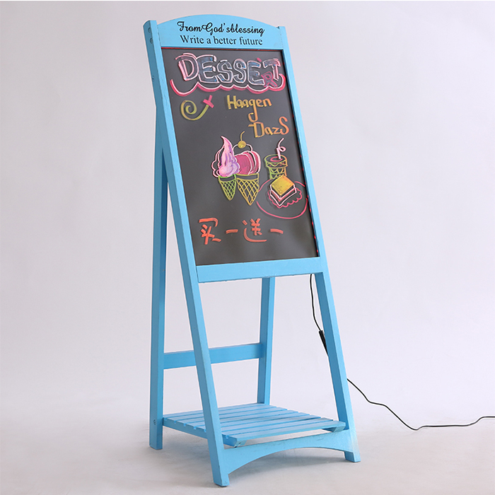 LED Electronic Fluorescent Board Advertising Board Light-Emitting Blackboard, Display Glitter Screen Handwriting Board