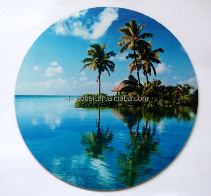 Rubber material printable mouse pads/ full color sublimation printed mouse mat
