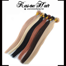 Type Pro-Boned Wholesale 100 Cheap Remy Hair And Keratin Human Hair U Tip Hair Extension No Tangle