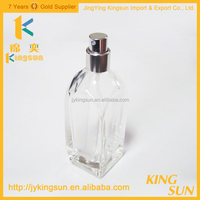 Delicate 50ml clear glass atomizer spray perfume bottles