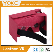 2016 Cheap Leather virtual reality VR 3D DIY Mobile Box for 3.5 to 6 inch phones