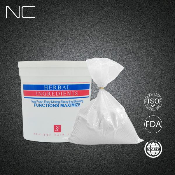 China Hair Dye Manufacturer Private Label White And Blue Color Hair Bleaching Powder ,Dust Free Hair Bleaching Powder