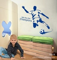 100 pcs Stickers bedroom wall stickers backdrop creative combination of wall stickers I love football