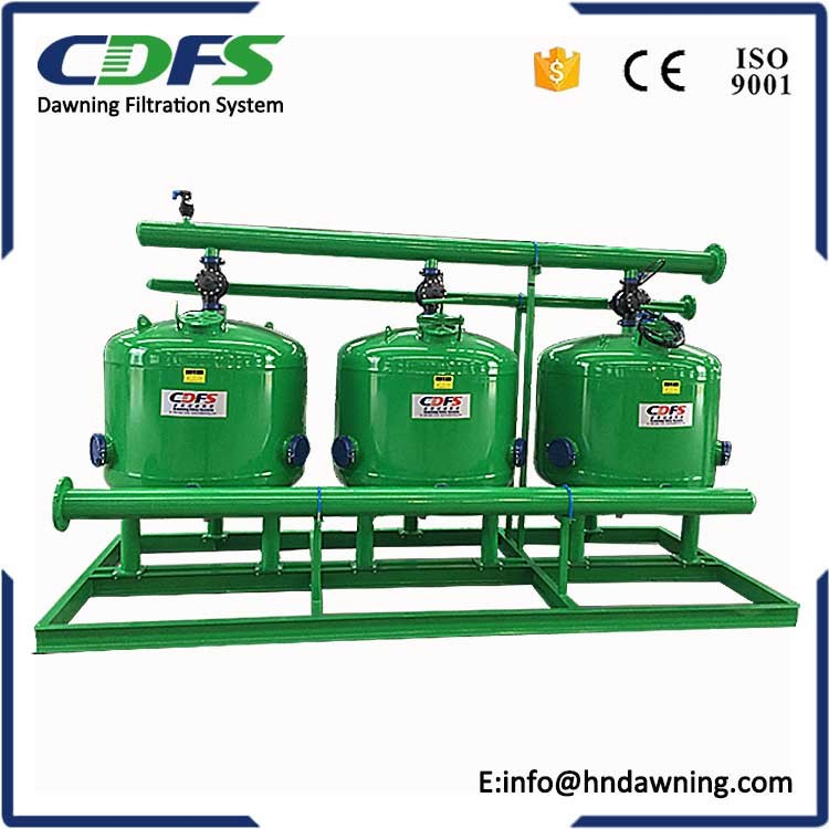 sand gravel filter with water pump for irrigation
