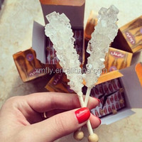 Crystallized Sugar Rock Candy Sweet For Tea , Sugar Crystals Lollipop With Wooden Stick