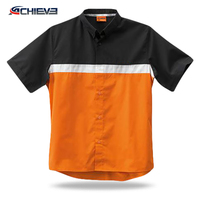sublimated pit crew racing shirts /custom racing team wear