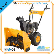 6.5hp two stage gas snow thrower, electric start