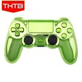 Chrome green shell for ps4 controller housing case with full buttons