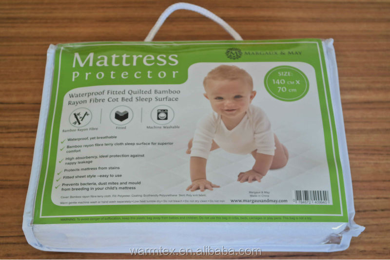 Pad Pack <strong>N</strong> Play Crib Mattress Cover Fits ALL Baby <strong>Portable</strong> Cribs Mini & Foldable Mattresses Waterproof Dryer Safe