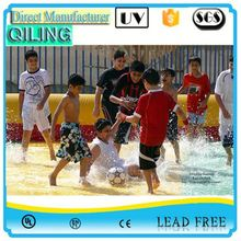 QL 1st grade soap water football pitch cheap inflatable soap soccer field