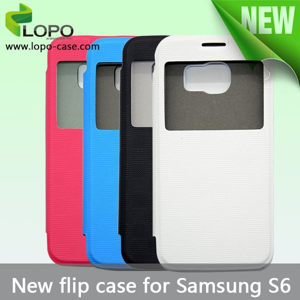 Flip front view sublimation case for Samsung S6