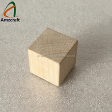 Wholesale Custom Slightly Polished Wood Maple Puzzle Dice Cube