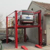 4 post potable hydraulic mast car lift parking platform system