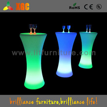 modern mini bar table/bar table with wheels/plastic waterproof led aluminum bar table