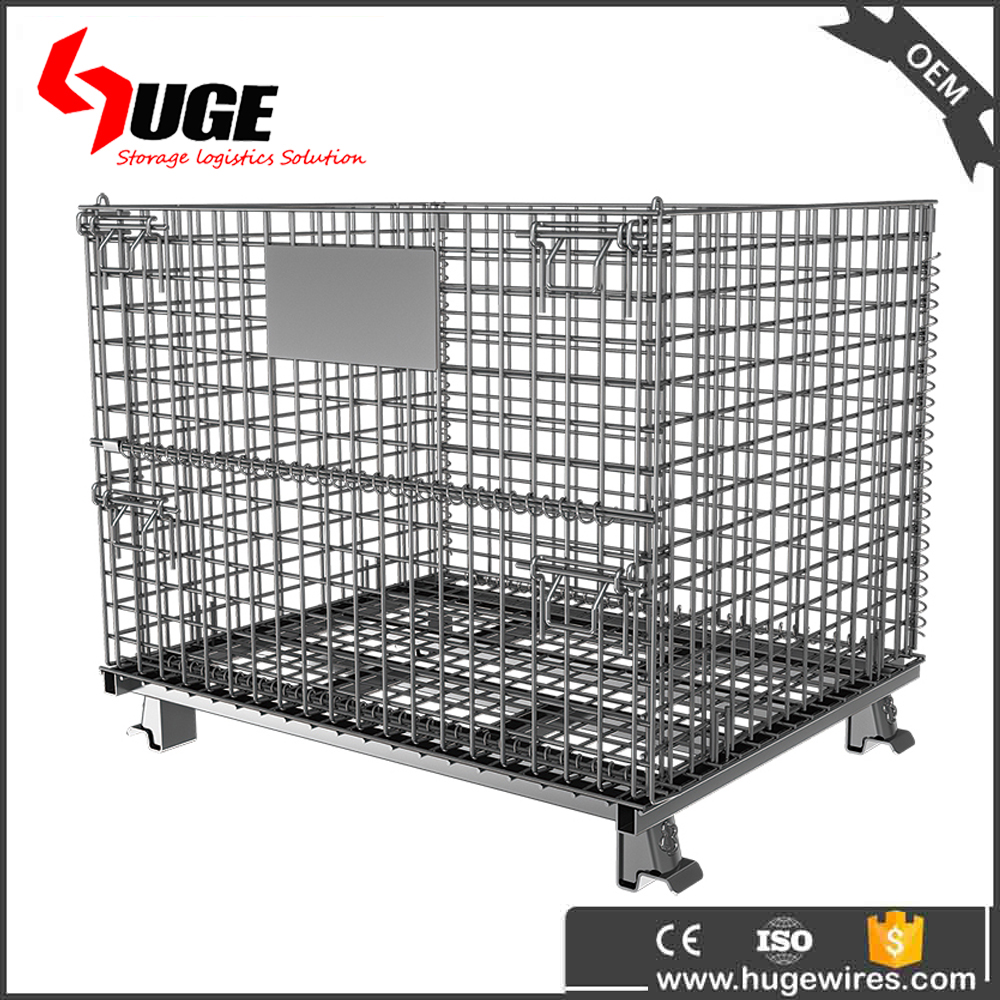 High quality factory galvanized metal storage wire mesh container
